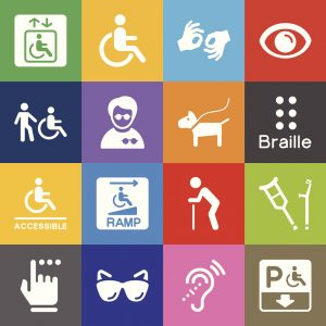 Vector File of Disability Icons