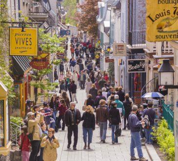 People walking in Quebec City