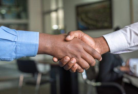 closeup of handshake