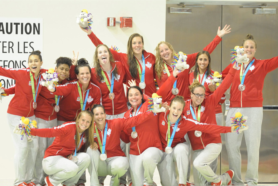Sr. National Women's WP team winning silver at Pan American Games in Toronto in 2015.