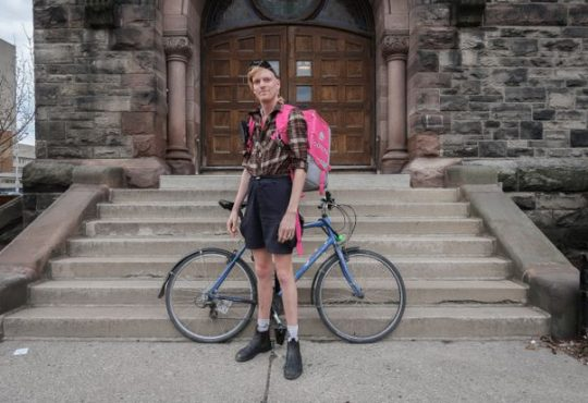 oodsters United is looking to unionize Foodora couriers in Toronto. Thomas McKechnie (pictured) is one of the members helping to organize the union.