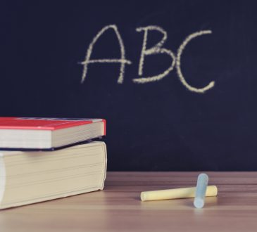 blackboard with ABC written on it