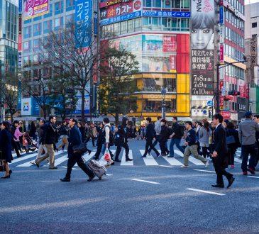 busy street in Japan