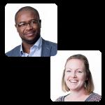 Robert Ndoping and Lindsay Morris