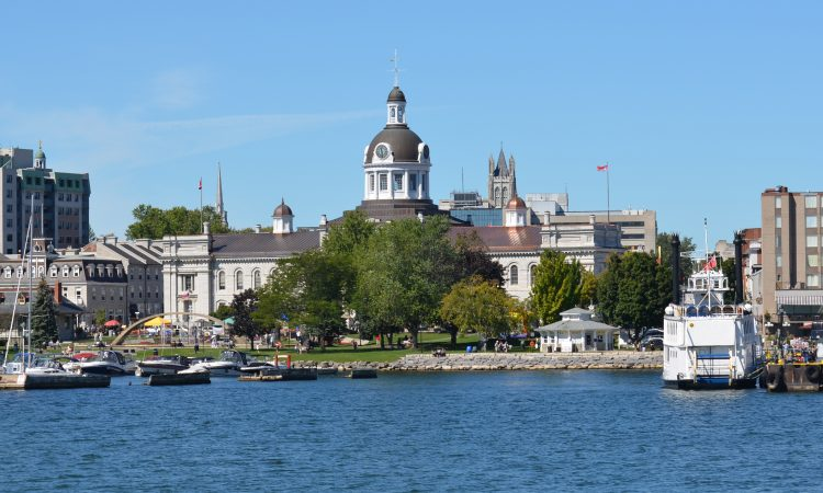 Kingston City Hall seen from water