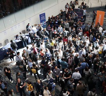 people attending job fair