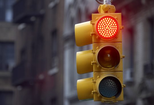 Traffic light on red