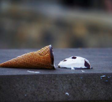 ice cream cone on ground