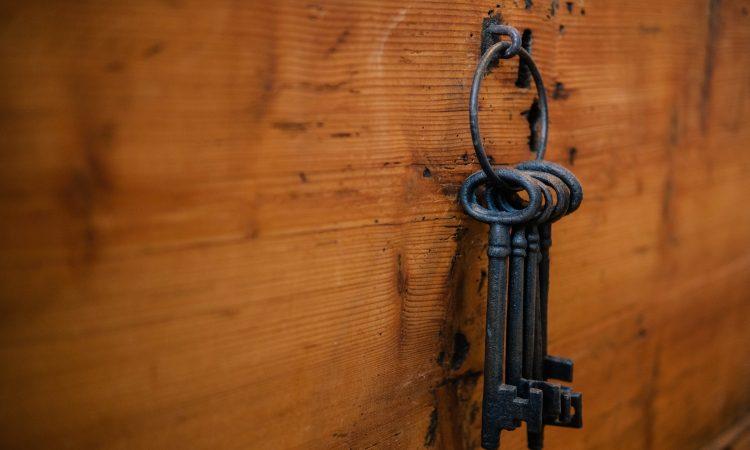 keys hanging on hook