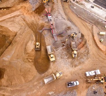 mining site seen from above