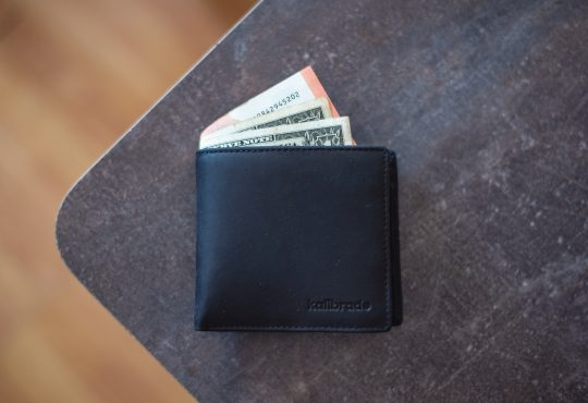 wallet on table