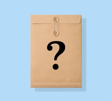 manila envelope with question mark