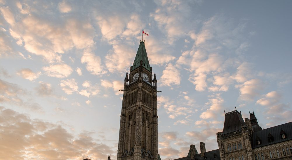 Parliament of Canada, Ottawa and Sunset