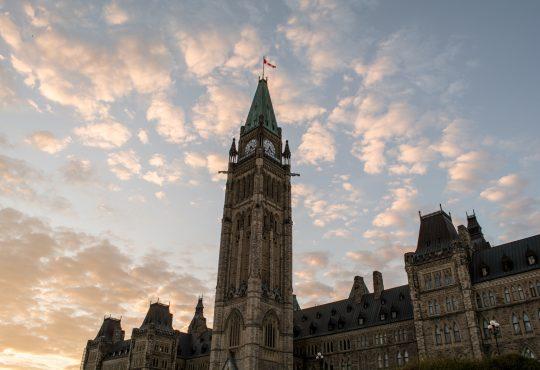 Parliament of Canada, Ottawa and Sunset
