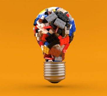 Lightbulb made out of lego