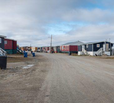 residential buildings on Victoria Island, Nunavut, Canada