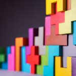 colourful geometric building blocks