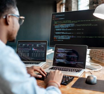 black computer programmer