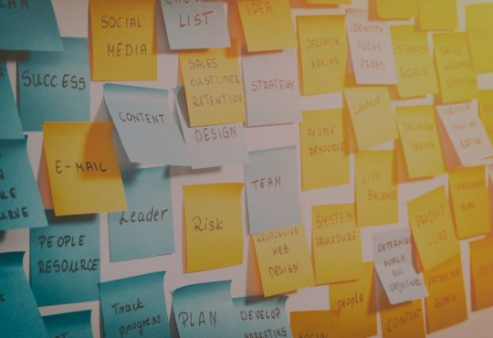 sticky notes for brainstorming session