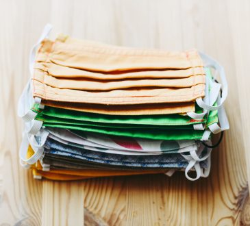 stack of cloth masks