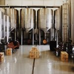 beer brewery tanks