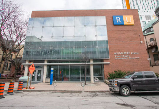 exterior of Ryerson University building