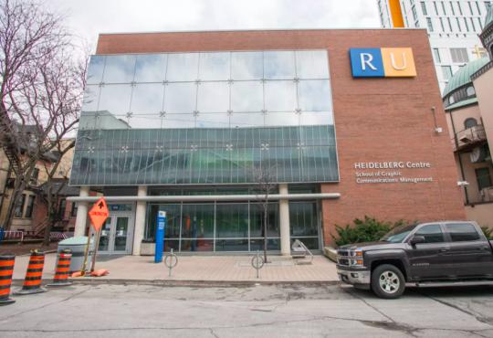 exterior of Ryerson University building