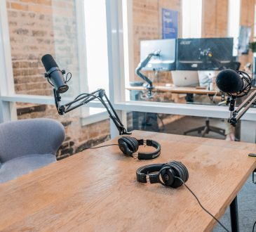 audio recording equipment on desk