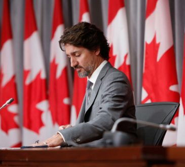 trudeau during press conference