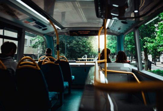 interior of public bus