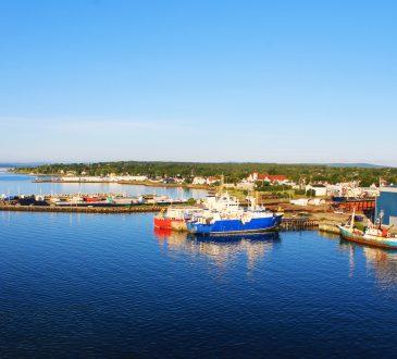 Ships docked at the pier, North Sydney, Nova Scotia.