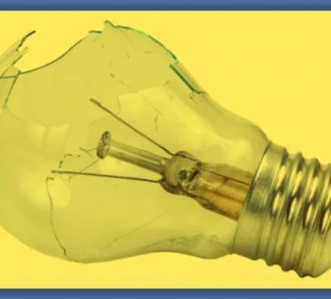 a broken light bulb