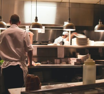 chefs in restaurant kitchen
