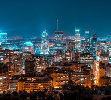 City of Montreal skyline at night