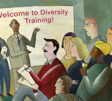 illustration of workplace participating in diversity training
