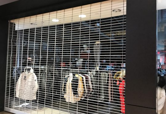 Shops at a Mall Closed Because of the Coronavirus (Covid-19)