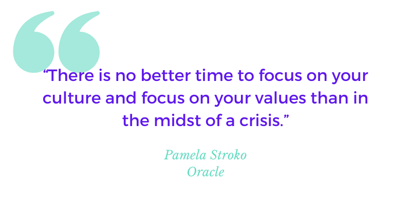 """Quote"""" There is not better time to focus on your culture and focus on your values than in the midst of a crisis."""""""