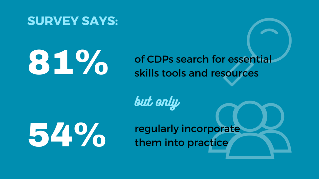 infographic: 81% of CDPs search for essential skills tools and resources