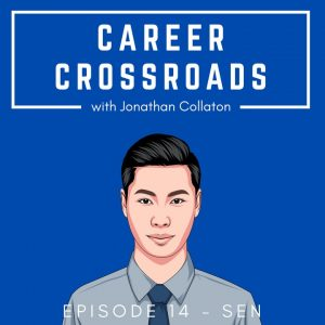 illustration of Sen with Career Crossroads on top