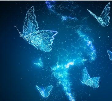 butterflies futuristic photo illustration