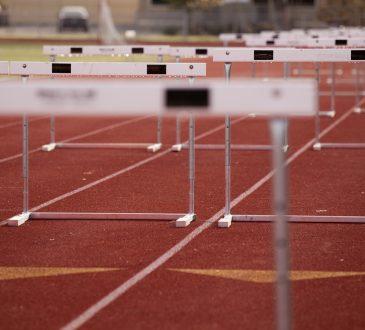 hurdles on track