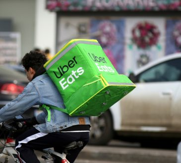 uber eats courier on bicycle