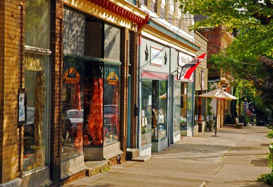 boutique shops in small town