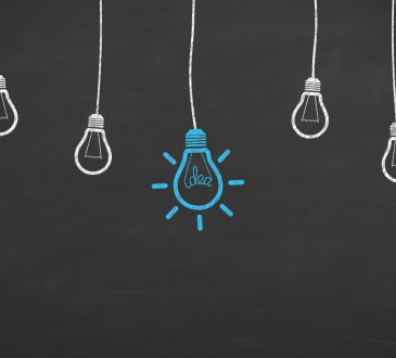lightbulbs drawn on chalkboard background