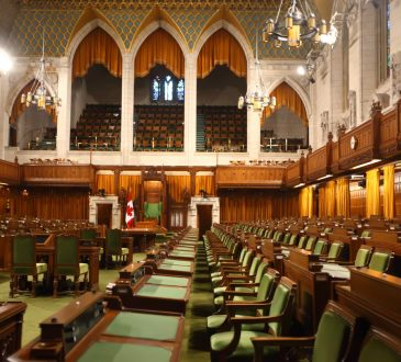 interior of the House of Commons in Ottawa