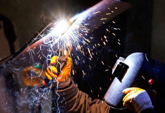 Welder working.