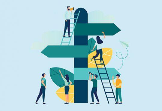 Illustration representing career ladders